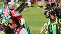 American Indian Fancy Dancers Grand Entry - stock footage
