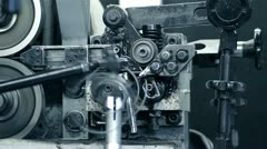 Production machine in motion Stock Footage