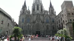 Barcelona Cathedral 04 Stock Footage