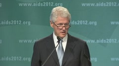 """living with AIDS...) President Bill Clinton Stock Footage"