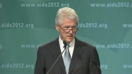 "Stock Video Footage of ""living with AIDS...) President Bill Clinton"