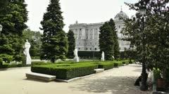 Madrid Jardines De Sabatini 03 Stock Footage