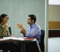 Multi-ethnic business people meeting in office Stock Photos