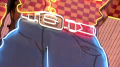 1080p Old Vegas Neon Sign - stock footage