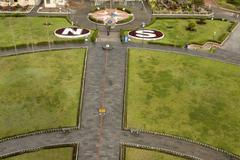 equator line in quito ecuador - stock photo