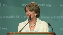 """end to AIDS..."" Congresswoman Nancy Pelosi - stock footage"