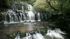 Beautiful waterfall in rain forest Stock Footage