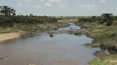 Mara River Serengeti Kenya East Africa Stock Footage
