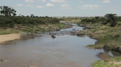 Mara River Serengeti Kenya East Africa Stock Footage