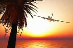 Leaving Paradise - stock illustration