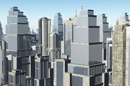 3D Metropolis 01 Stock Illustration