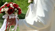 Stock Video Footage of Groom and bride's bouquet