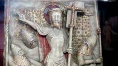 Jesus - Alabaster relief panel Stock Footage