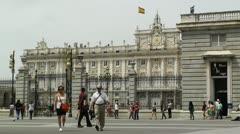 Madrid Palazzo Reale 02 Stock Footage