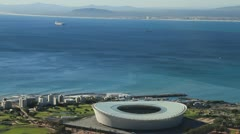 Capetown Soccer stadium,World Cup 2010 Stock Footage