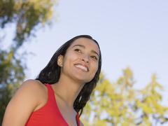 Close up of Hispanic woman smiling Stock Photos