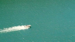 Fast Speed Boat on Open Water. Stock Footage