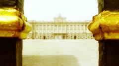Madrid Palazzo Reale 06 stylized Stock Footage