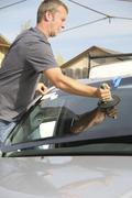 Automobile glazier Stock Photos