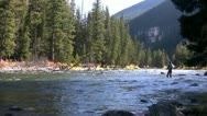 Stock Video Footage of fly fishing the rocky mountains