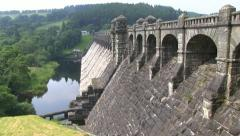 A view of the Lake Vyrnwy dam Stock Footage