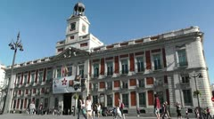 Madrid Plaza De La Puerta Del Sol 01 Stock Footage