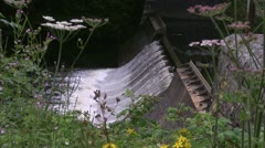 Downstream from the Lake Vyrnwy dam Stock Footage