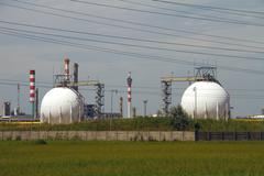 Chemical Factory in Summer Heat 01.jpg - stock photo