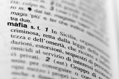 Mafia text in Dictionary Stock Photos