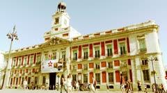 Madrid Plaza De La Puerta Del Sol 04 stylized Stock Footage