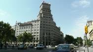 Stock Video Footage of Barcelona Gran Via and Passeig De Gracia crossing 02