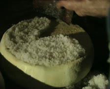 CHEESE removing salt AUDIO - stock footage