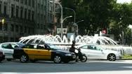 Stock Video Footage of Barcelona Gran Via and Passeig De Gracia crossing 03