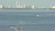 Boat in Biscayne bay Stock Footage