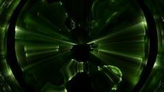 Green spherical distortions Stock Footage