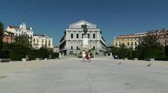 Madrid Plaza De Oriente 01 Stock Footage