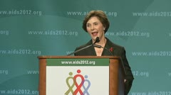 (Clip 2 of 4) stock footage of Laura Bush Stock Footage