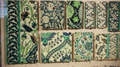 Islamic tiles from Damascus in Syria Stock Footage