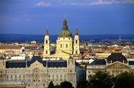 Stock Photo of Saint Stephen Basilica Budapest View Hungary 01