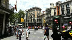 Stock Video Footage of Barcelona La Rambla 04