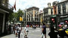 Barcelona La Rambla 04 Stock Footage