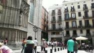 Stock Video Footage of Barcelona Placa De Santa Maria 01