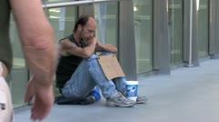 1440 Las Vegas Homeless Man Stock Footage