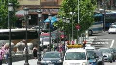 Madrid Puente De Segovia 04 heat mirage - stock footage