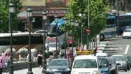 Madrid Puente De Segovia 04 heat mirage Stock Footage