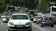 Madrid Puente De Segovia 05 heat mirage Stock Footage