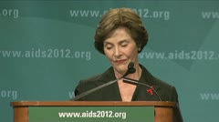 (Clip 1 of 4) stock footage of Laura Bush Stock Footage