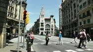 Stock Video Footage of Barcelona Via Layetana 04