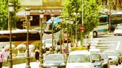Madrid Puente De Segovia 06 stylized - stock footage