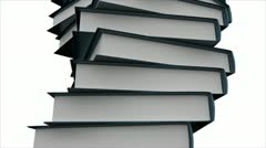 Stack of Books. - stock footage